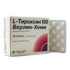 L-Тироксин 100 Берлин Хеми табл. 0.1 мг №100, Берлин-Хеми АГ/Менарини Групп