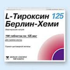 L-Тироксин 125 Берлин Хеми табл. 0.125 мг №100, Берлин-Хеми АГ/Менарини Групп