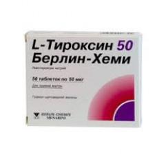 L-Тироксин 50 Берлин Хеми табл. 50 мкг №50, Берлин-Хеми АГ/Менарини Групп