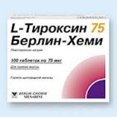 L-Тироксин 75 Берлин Хеми табл. 75 мкг №100, Берлин-Хеми АГ/Менарини Групп