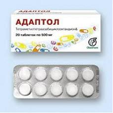 Адаптол табл. 500 мг №20, Олайнфарм АО