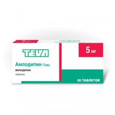 Амлодипин-Тева табл. 5 мг №30, Фармацевтический завод Тева Прайвэт Ко.Лтд