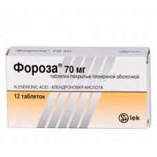 Фороза табл. п/о пленочной 70 мг №12, Лек д.д.