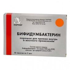 Бифидумбактерин пор. д/приема внутрь и местн. прим. 5 доз №30 пакеты, Партнер ЗАО