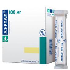 Аэртал табл. п/о 100 мг №20, Алмирал Продесфарма С.А., произведено Гедеон Рихтер Лтд