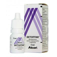 Бетоптик капли глазн. 0.5% 5 мл №1, Новартис Фарма АГ, произведено Алкон-Куврер