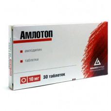 Амлотоп табл. 10 мг №30, Нижфарм ОАО, произведено Макиз-Фарма ЗАО