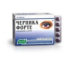 Черника-форте табл. 250 мг №50 с витаминами и цинком, Эвалар ЗАО