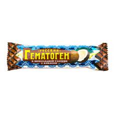 Гематоген Русский 40 г с кокосом в шоколадной глазури, ФАРМ-ПРО
