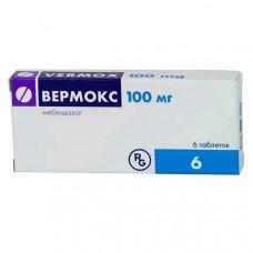Вермокс табл. 100 мг №6, Гедеон Рихтер А.О.