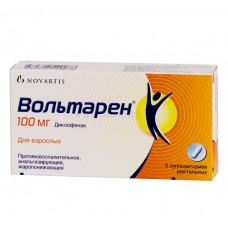 Вольтарен супп. рект. 100 мг №5, Новартис Фарма АГ, произведено Дельфарм Юнинг С.А.С