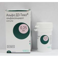 Альфа Д3-Тева капс. 0.25 мкг №60, Тева Фармацевтические Предприятия Лтд