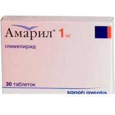 Амарил табл. 1 мг №30, Санофи-Авентис Дойчланд ГмбХ