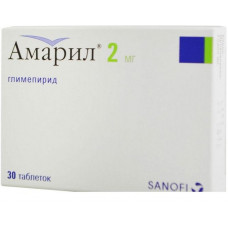 Амарил табл. 2 мг №30, Санофи-Авентис Дойчланд ГмбХ