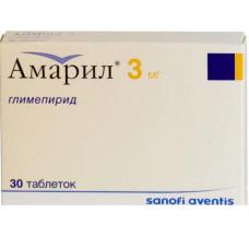 Амарил табл. 3 мг №30, Санофи-Авентис Дойчланд ГмбХ