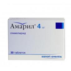 Амарил табл. 4 мг №30, Санофи-Авентис Дойчланд ГмбХ