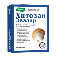 Хитозан Эвалар табл. 0.5 г №100, Эвалар ЗАО