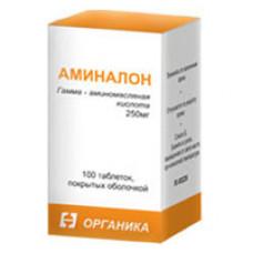 Аминалон табл. п/о 250 мг №100, Органика ОАО