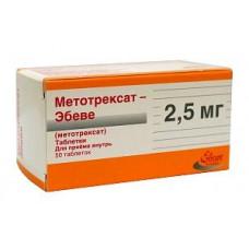 Метотрексат-Эбеве табл. 2.5 мг №50, Эбеве Арцнаймиттел ГмбХ