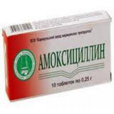 Амоксициллин табл. 250 мг №20, Барнаульский завод медицинских препаратов ООО