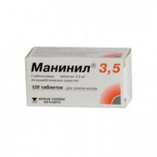 Манинил 3.5 табл. 3.5 мг №120, Берлин-Хеми АГ/Менарини Групп