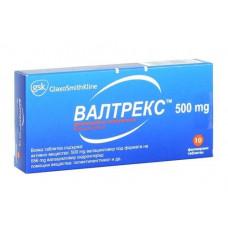 Валтрекс табл. п/о пленочной 500 мг №10, ГлаксоСмитКляйн Фармасьютикалз С.А.