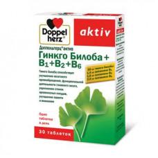 Доппельгерц актив гинкго билоба+В1+В2+В6 табл. 275 мг №30, Квайссер Фарма ГмбХ и Ко