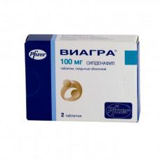 Виагра табл. п/о пленочной 100 мг №2, Пфайзер Инк, произведено Фарева Амбуаз