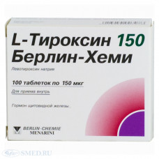 L-Тироксин 150 Берлин Хеми табл. 0.15 мг №100, Берлин-Хеми АГ/Менарини Групп