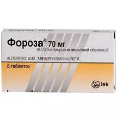 Фороза табл. п/о пленочной 70 мг №8, Лек д.д.