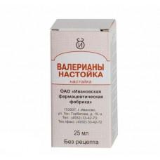 Валериана настойка 25 мл №1, Ивановская фармфабрика ОГУП