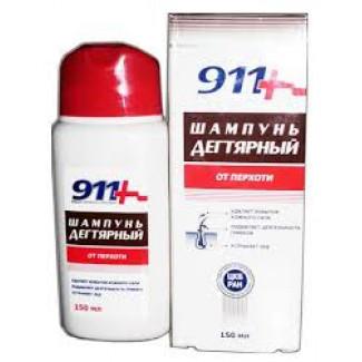 911 Ваша служба спасения Дегтярный от перхоти Шампунь 150 мл, ТВИНС-ТЭК