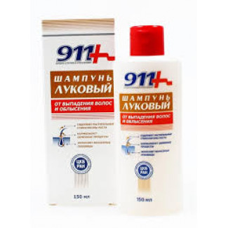 911 Ваша служба спасения Луковый от выпадения волос и облысения Шампунь 150 мл, ТВИНС-ТЭК