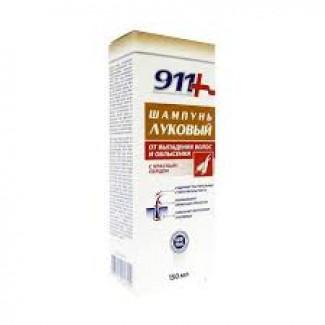 911 Ваша служба спасения Луковый с красным перцем от выпадения волос и облысения Шампунь 150 мл, ТВИНС-ТЭК