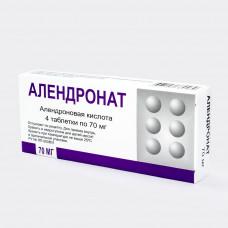 Алендронат табл. 70 мг №4, Березовский фармацевтический завод ЗАО